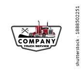 modern badge truck service...   Shutterstock .eps vector #1888502251