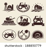 farm labels set. vector  | Shutterstock .eps vector #188850779