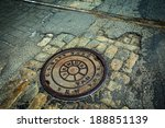 Manhole Drain Cover On Rough...