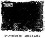 grunge splash frame. vector... | Shutterstock .eps vector #188851361