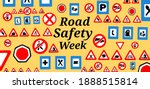 road safety week is celebrated... | Shutterstock . vector #1888515814