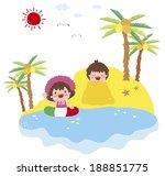 children at beach | Shutterstock . vector #188851775
