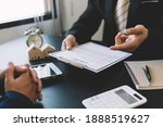 Home Buyers Meet And Negotiate...