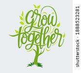 vector illustration  grow... | Shutterstock .eps vector #1888523281