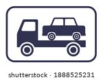 black car evacuation icon on a... | Shutterstock .eps vector #1888525231
