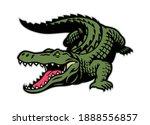 Crocodile Mascot In Whole Body