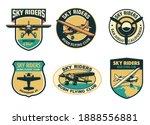 set of vintage bush flying... | Shutterstock .eps vector #1888556881
