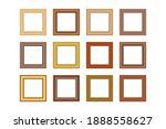big set of squared golden...   Shutterstock .eps vector #1888558627