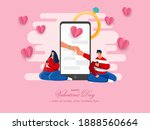 cartoon man proposing his... | Shutterstock .eps vector #1888560664