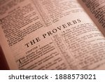 Small photo of Iloilo City, Philippines - October 29 2020: The Book of The Proverbs of the Holy Bible Old Testament