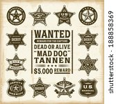 vintage sheriff  marshal and... | Shutterstock . vector #188858369