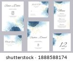 watercolor wedding invitation...   Shutterstock . vector #1888588174
