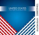 usa design over  background ... | Shutterstock .eps vector #188859401