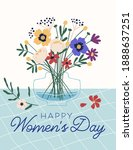 graphic design of postcard for... | Shutterstock .eps vector #1888637251