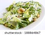 a plated caesar salad. | Shutterstock . vector #188864867