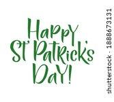 happy saint patrick's day... | Shutterstock .eps vector #1888673131
