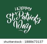 happy saint patrick's day... | Shutterstock .eps vector #1888673137
