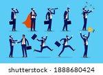businessman character set  ... | Shutterstock .eps vector #1888680424