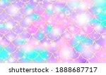 mermaid pink pattern....   Shutterstock .eps vector #1888687717