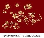 branch of cherry blossom on... | Shutterstock .eps vector #1888720231