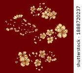 branch of cherry blossom on... | Shutterstock .eps vector #1888720237