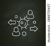 virus spread chalk icon. new... | Shutterstock .eps vector #1888735657
