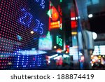 display of stock market quotes  | Shutterstock . vector #188874419