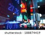 display of stock market quotes  | Shutterstock . vector #188874419