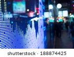 display of stock market quotes  | Shutterstock . vector #188874425