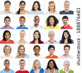 large group of multi ethnic... | Shutterstock . vector #188876681