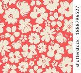 beige flowers on a red... | Shutterstock .eps vector #1888796527