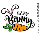 baby bunny   cute easter bunny...   Shutterstock .eps vector #1888808704