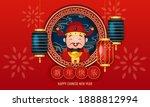 god of wealth wishing happy... | Shutterstock .eps vector #1888812994