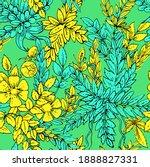 floral ornament. plexus of... | Shutterstock . vector #1888827331