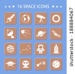 space and astronomy button... | Shutterstock .eps vector #188884067