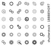 setting icon vector set. manage ... | Shutterstock .eps vector #1888854397