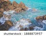 Emerald Sea Wave And White...