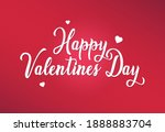 happy valentine's day vector... | Shutterstock .eps vector #1888883704