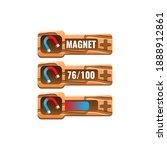 set of wooden game ui magnet...