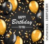 happy birthday vector... | Shutterstock .eps vector #1888918384