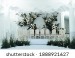 Small photo of Traditional Thai Wedding ceremony atmosphere decoration and artifact