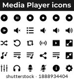 media player app and web ui... | Shutterstock .eps vector #1888934404