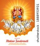 illustration of makar sankranti ... | Shutterstock .eps vector #1888953931