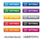settings buttons | Shutterstock .eps vector #188895491