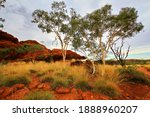 Red iron rocks of Australian outback