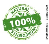 natural ingredients 100 percent ... | Shutterstock . vector #188896025