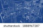 industrial refinery equipments...   Shutterstock .eps vector #1888967287