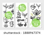 tea package with hand drawn...   Shutterstock .eps vector #1888967374