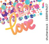 happy valentine's day  greeting ...   Shutterstock .eps vector #1888969657