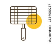 barbecue  grill steel grid line ...